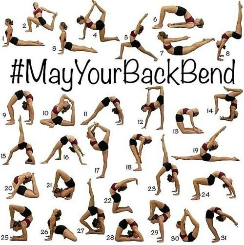 Back bend stretches