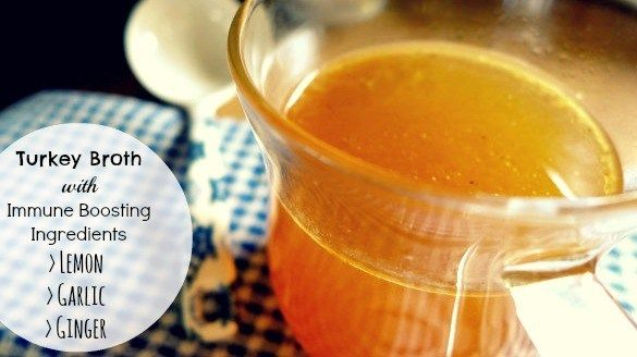Turkey Broth with Immune Boosting Ingredients - The Urban Ecolife