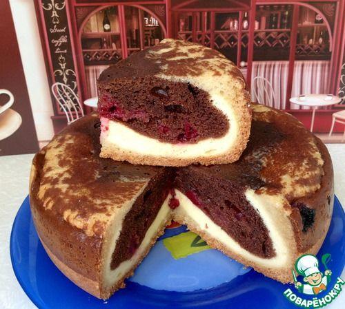 """Шоколадно-творожный пирог с вишней """"Миледи"""" - кулинарный рецепт"""