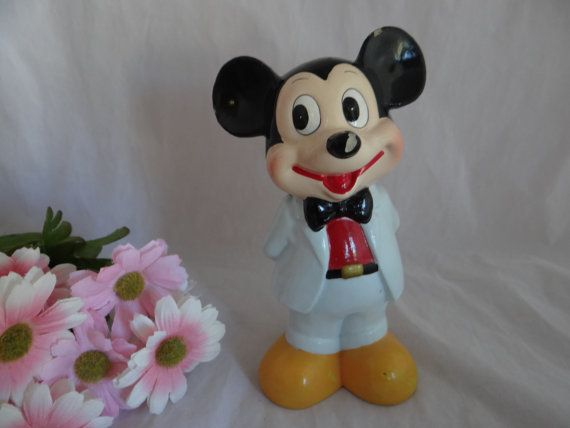 Vintage Mickey Mouse Bank Made In Korea - Unique Vintage Item on Etsy, $44.50