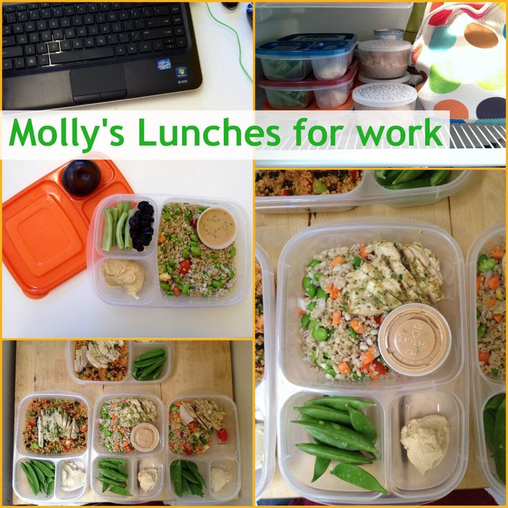 For her work week ahead, Molly packs 4 lunches at one time in EasyLunchboxes.