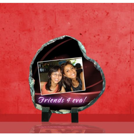 Photo Stone Dimensions:5.5 inch x 5.5 inch(width x height) Comes with a stand