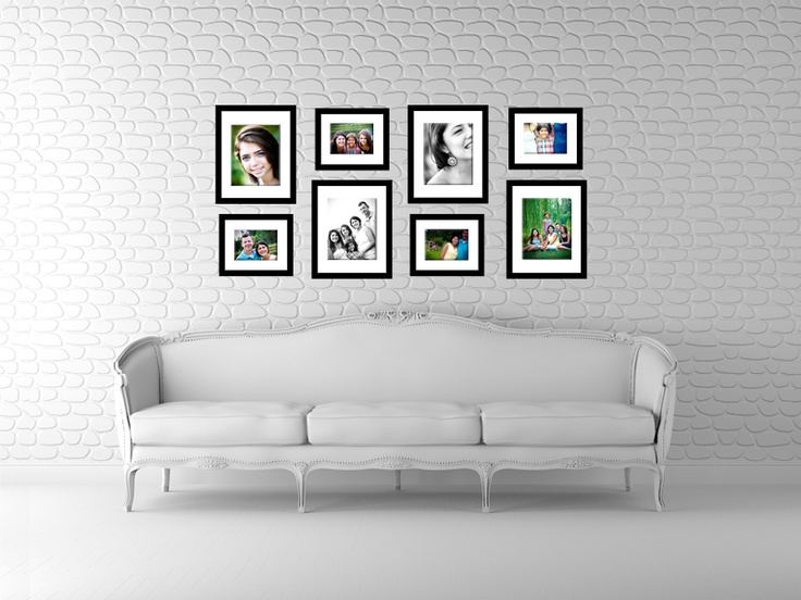 frame arrangement alternate sizes of 8x10 5x7 on wall pictures id=29701