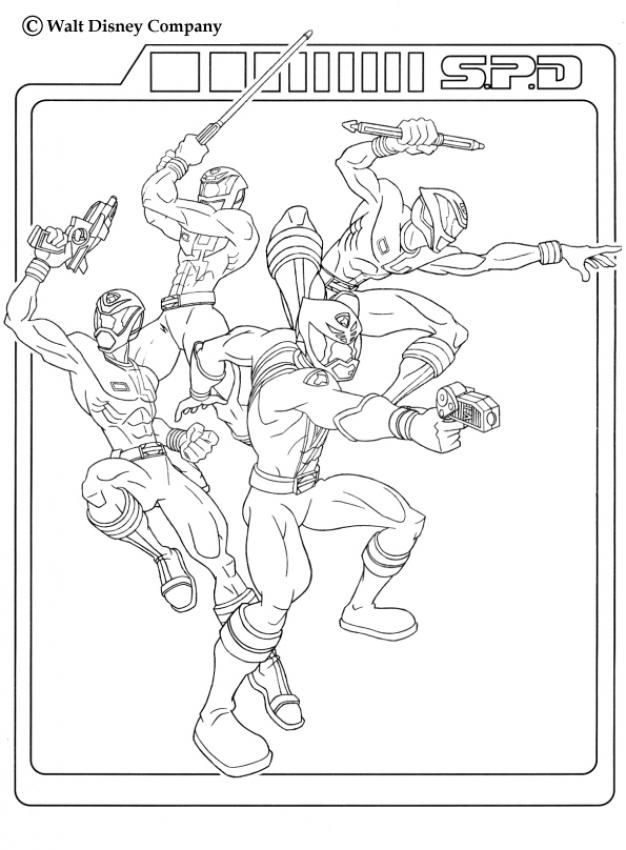 Power rangers team coloring page. More TV series coloring