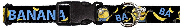 Buckle-Down Minions Ba Ba Banana Black/Blue/Yellow Plastic Clip Collar -- See this awesome image (This is an affiliate link and I receive a commission for the sales) : Cat Collar, Harness, Leash