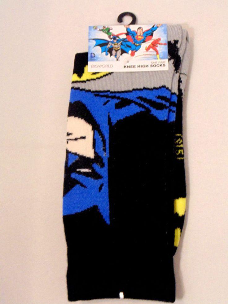 Batman Men's Knee High Socks Size 9-11 One Pair DC Comics #Bioworld #Casual