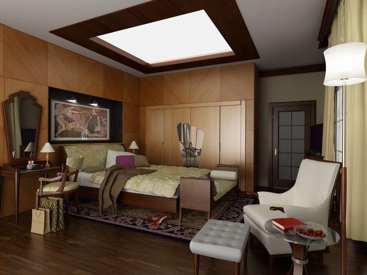Коричневая спальня   #коричневый #спальня