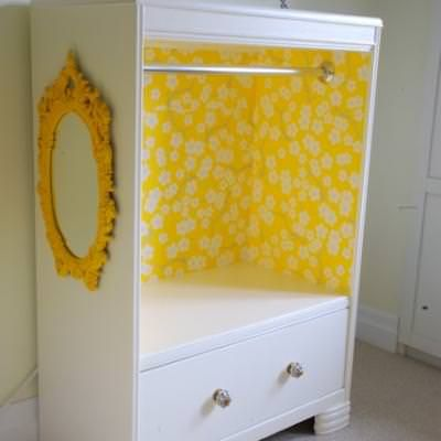 Dresser Repurposed {Chests}What a fabulously cute costume closet, what little girl wouldn't love this DIY?! Taking an old dresser you can transform it into wardrobe with so many possibilities! Maybe even a super hero closet for your little guy...View This Tutorial