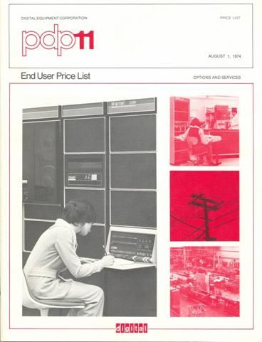 This image shows the PDP-11 price list in the Wes Graham Collection at UW.