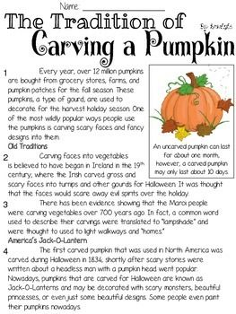 Alert - This FREEBIE will no longer be available for FREE on November 1st! After that, it will be priced at $1.00In this file, you get one original informational article for 2nd-4th grade (I will be using it with my students in 3rd); 5 questions formed using FSA testing stems.Students will read the a (one-sided) Pumpkin themed informational text article with 5 questions written in FSA-style such as HOT TEXT, Multiple Choice, Multiple Answer, and Graphic Response Items.Perfect for practice…