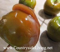Яблоки в карамели домашние. Рецепт, фото
