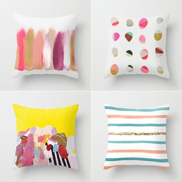 Bright and Abstract Cushions from Society6