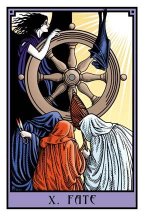Tarot cards symbolized fate, as that is what they were used for. Isobel was the fortune teller, and she was the one who read Bailey's fate for him, which inspired him to pursue the circus more.