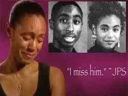 Jada Pinkett Smith on the death of her very close friend,Tupac.Tupac Shakur <3 R.I.P They went to The Baltimore school of arts together and remained friends.