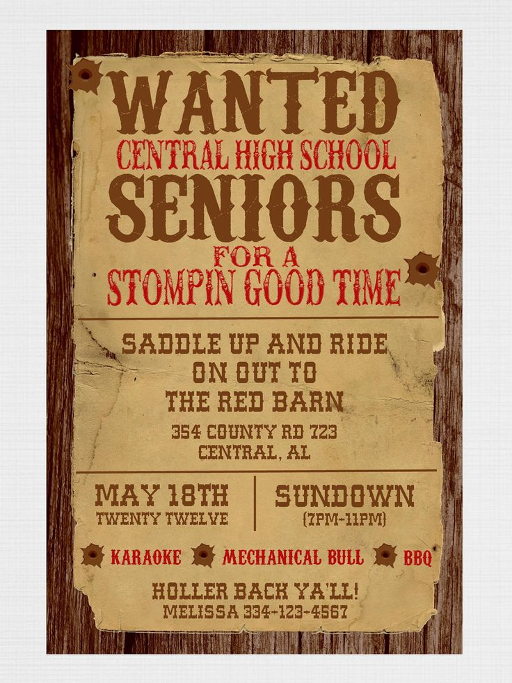 25 best ideas about Western invitations – Western Themed Party Invitations