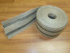 "Jute Webbing (10 YARDS) 3 1/2"" wide. webbing for furniture upholstery repair 15.00 free shipping"