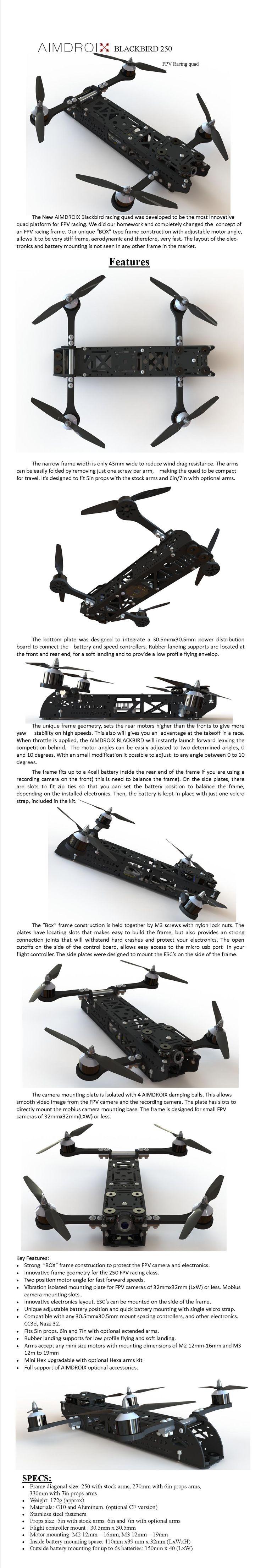 Aimdroix Blackbird 250  Fpv Racing Mini Quad [aimdroixbb250]