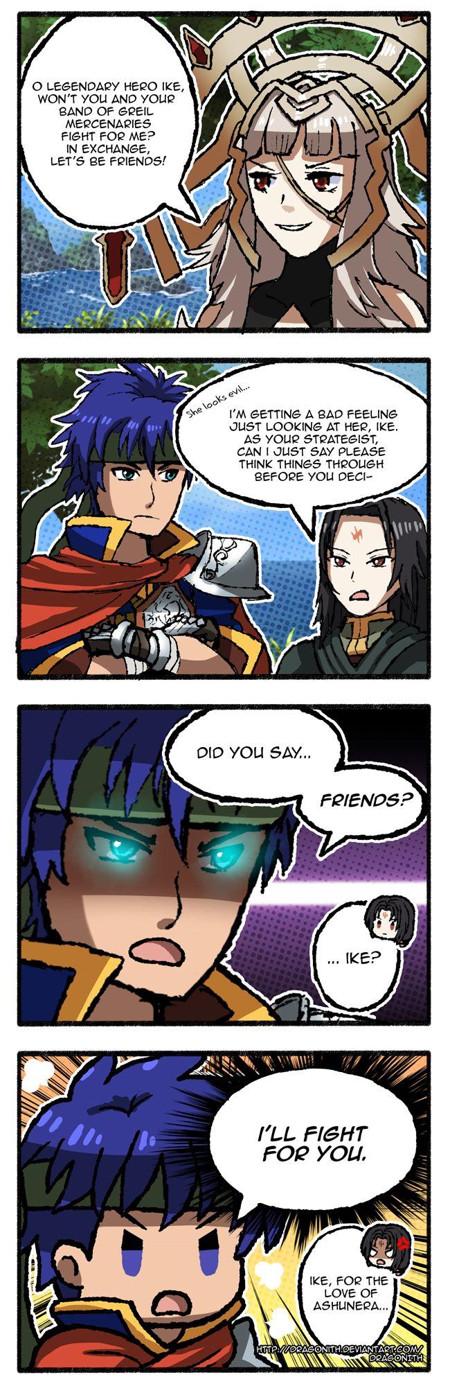FE Heroes: Young Mercenary Ike by Dragonith