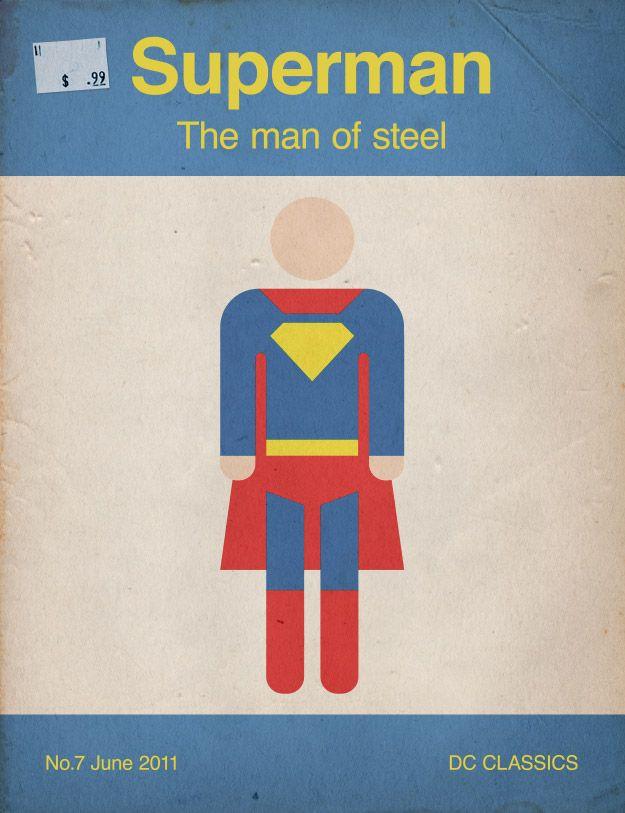 Retro Superman book cover