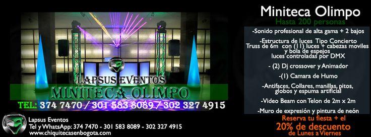 Miniteca Económica Bogotá | Tel: 374 7470 - 302 327 4915 | Lapsus E.