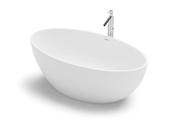 Iao by VALLONE®: Handveredelte freistehende Badewanne aus hochwertigem VELVET STONE™. Einzigartiges Design zum fairen Preis. Jetzt online kaufen ✓