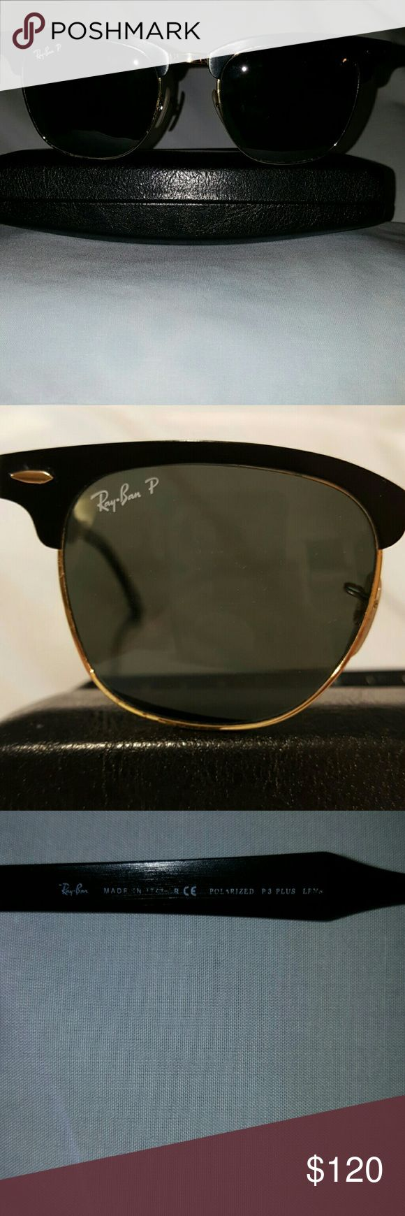 Polarized Club master Ray Bans Polarized Clubmaster Ray Bans made in Italy. Nice condition. Joints smooth and tight ( No Ray Ban case) Ray-Ban Accessories Sunglasses