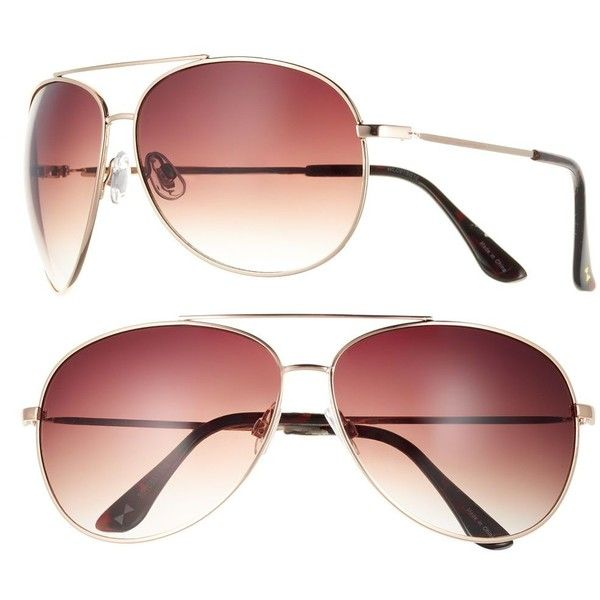 Women's LC Lauren Conrad Oversized Aviator Sunglasses ($18) ❤ liked on Polyvore featuring accessories, eyewear, sunglasses, gold, aviator style glasses, uv protection glasses, lc lauren conrad sunglasses, oversized aviator sunglasses and aviator sunglasses