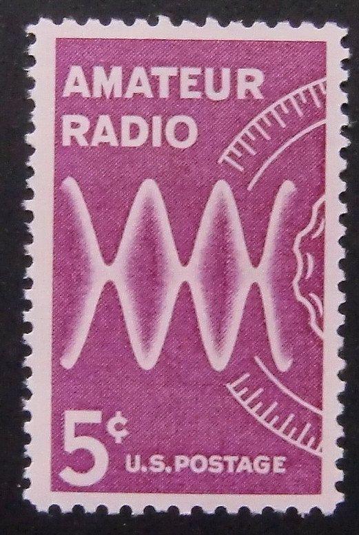 Amateur Radio Ham Radio USA -Framed Postage Stamp Art 6466