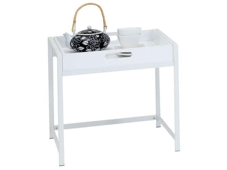 table plateau coloris blanc vente de panier et bo te de. Black Bedroom Furniture Sets. Home Design Ideas