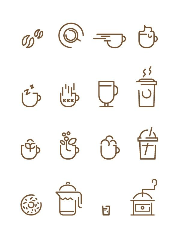 Coffee Icons - Francesco Lucchiari — Designspiration