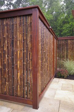 Nice Look For A Cheap Bamboo Privacy Fence. Split Bamboo Fencing Comes In  Rolls And Is Cheap. A Simple Frame U0026 Youu0027ve Got Privacy!