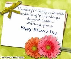 Thanks for teachers for doing every thing