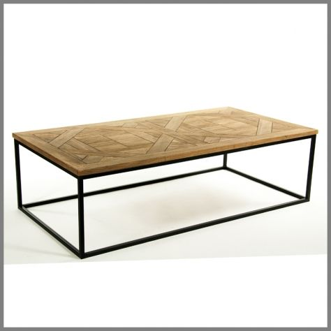 ##PARQUETRY COFFEE TABLE L153cm