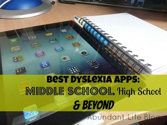 Best Dyslexia Apps: Middle School, High School & Beyond http://www.mariannesunderland.com/2013/01/30/best-dyslexia-apps-middle-school-high-school-and-beyond/