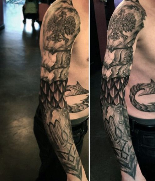 Celtic Armor Tattoos For Men