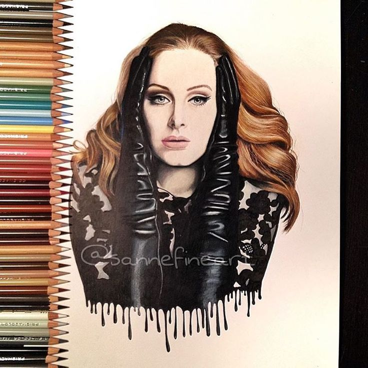 Hello...😊 finished my #adele portrait. What do you think? Always open for critics 😊