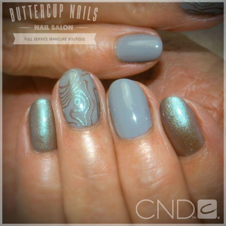 CND Shellac in Mystic Slate with Desert Chameleon pigment.  #CND #CNDWorld #CNDShellac #Shellac #nails #nail #nailstagram #naildesign #naildesigns #nailaddict #nailpro #nailart #nailartist  #nailartdesign #nailartofinstagram #nailartdesigns