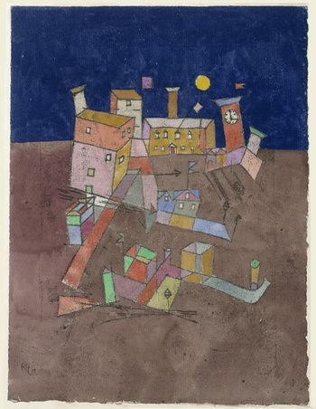 """Party from G. (""""Partie aus G."""") Paul Klee 1927"""