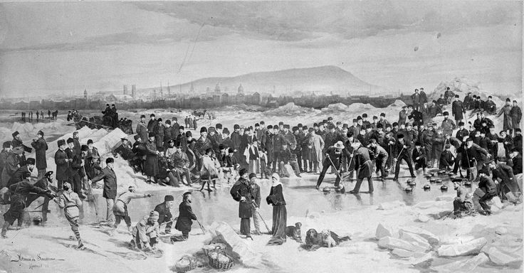 Curling match on the St. Lawrence River with the Marquis and Lady Dufferin and Sir John A. Macdonald / Match de curling sur le fleuve Saint Laurent avec le marquis de Dufferin, lady Dufferin et sir John A. Macdonald (Québec) | by BiblioArchives / LibraryArchives