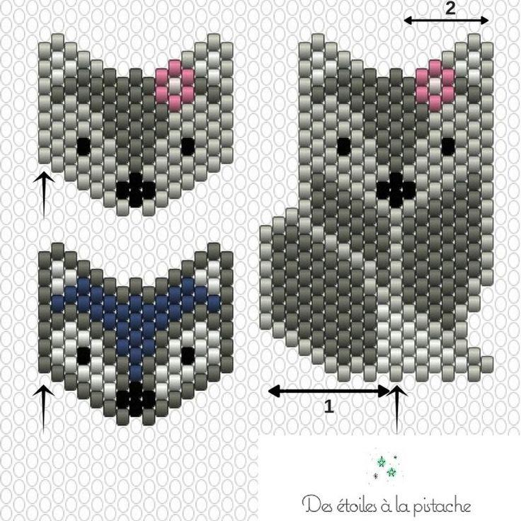 Diagramme Brick Stitch : Renards - Idées conseils et tuto Brick Stitch