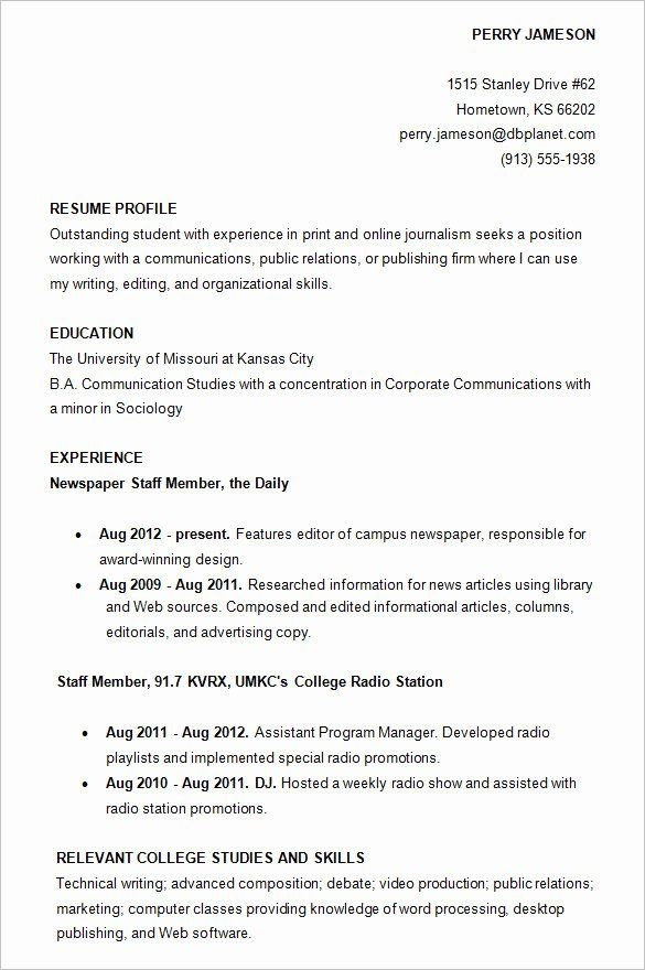 college admissions resume templates beautiful college