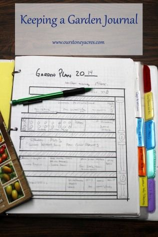 Keeping a garden journal a is super important part of a successful garden!  Winter is the perfect time to get one set up if you aren't already using one!!