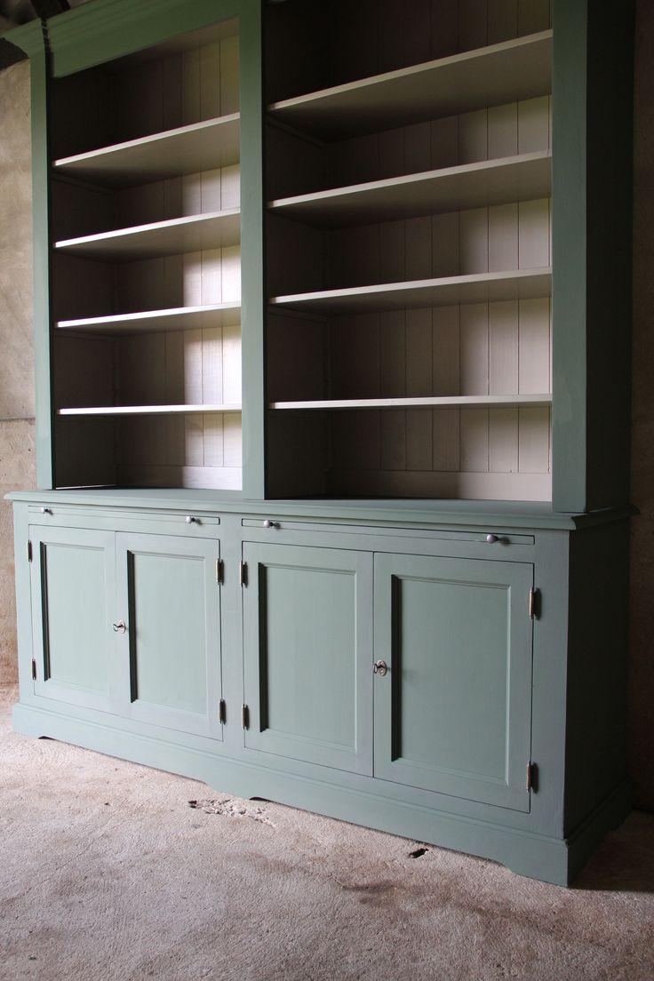 Landelijke Boekenkast afmeting H 240 cm x B 210 cm x D 50 cm - Inndoors Meubelen en Interieur