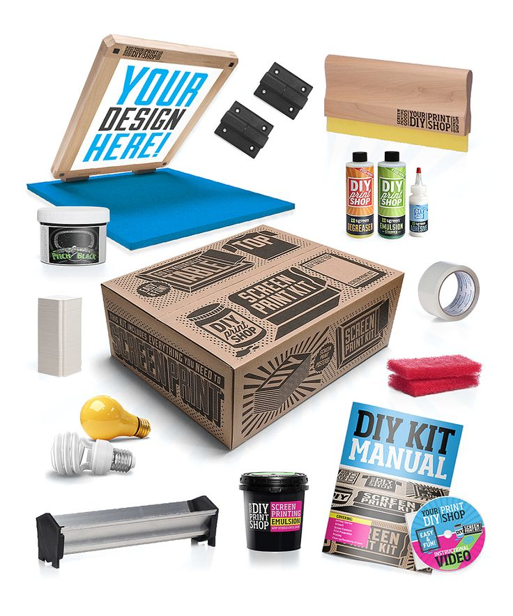 This is awesome! :: DIY Table Top Screen Printing Kit