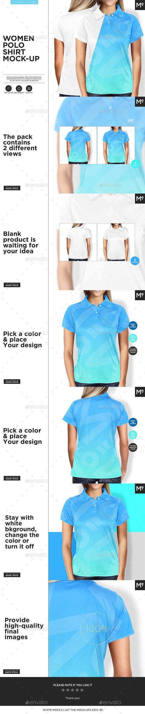 Download Women Polo Shirt Mock Up