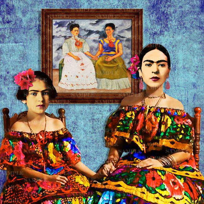 Frida child pop Art poster Print Painting Instant Digital Download Painting Print Mixed Media Collage Modern Photomontage pop art Collage by giftsforloved on Etsy
