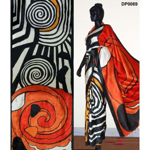 Bankura (bishonpur) Silk Hand Painted Saree. MADE on ORDER. 4 WEEKS DELIVERY TIME pd0069