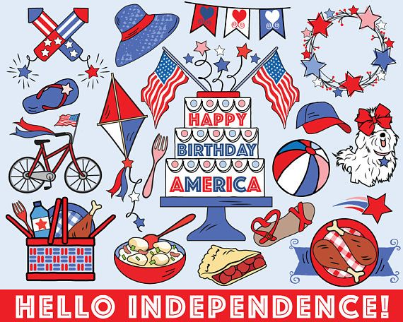 Fourth of July Clipart vector summer clipart 4th of July