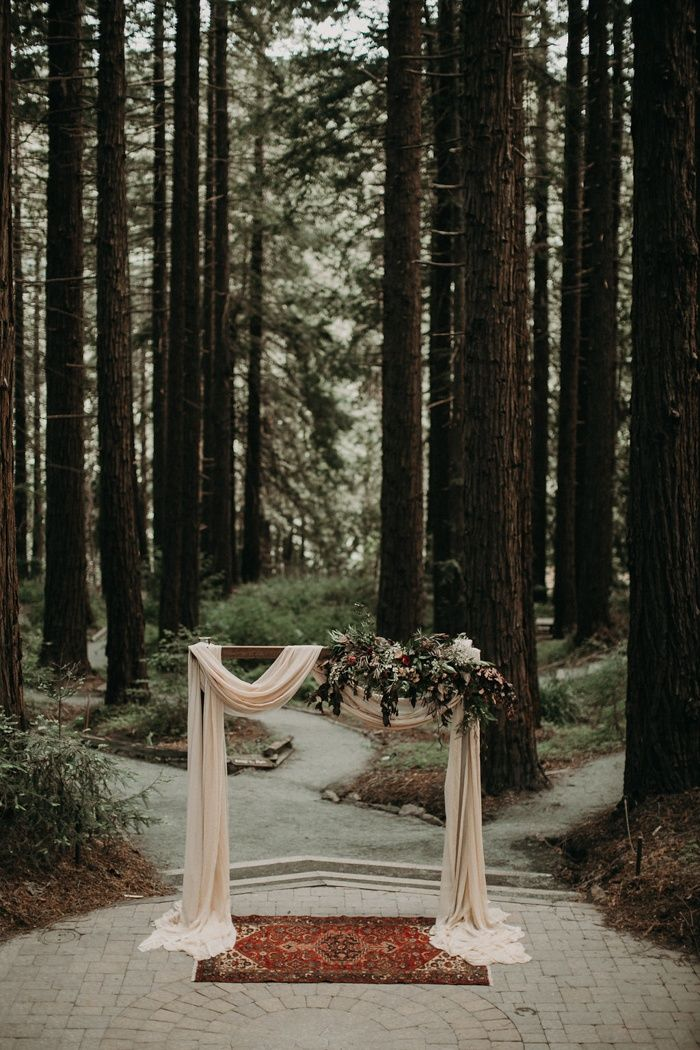 Romantic woodland forest wedding | Image by From the Daisies