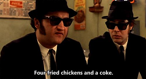 "nwi-talent: ""Four fried chickens, and a coke."""